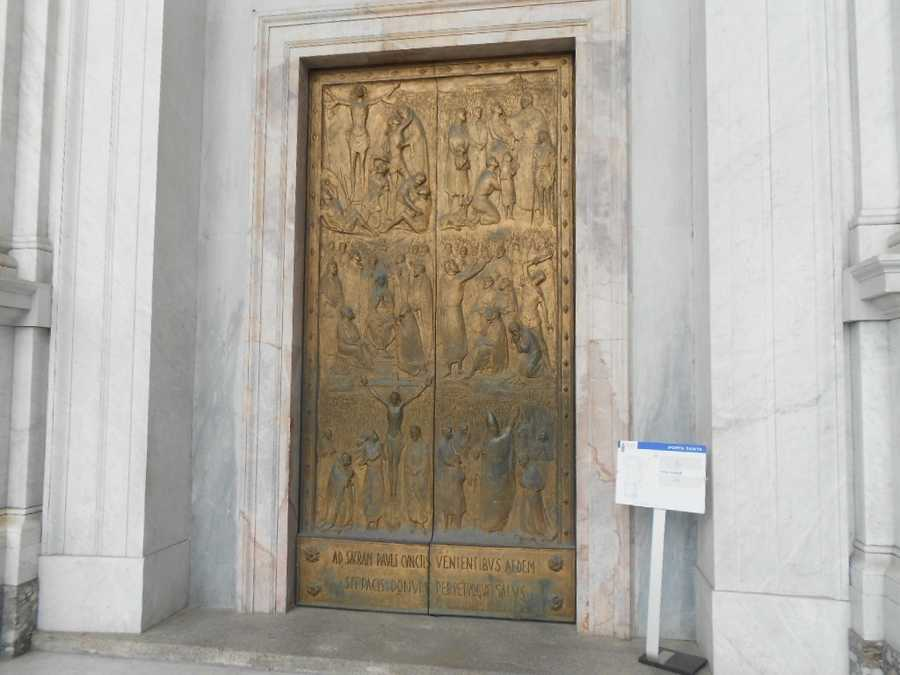 The Holy door of the Basilia di San Paolo.
