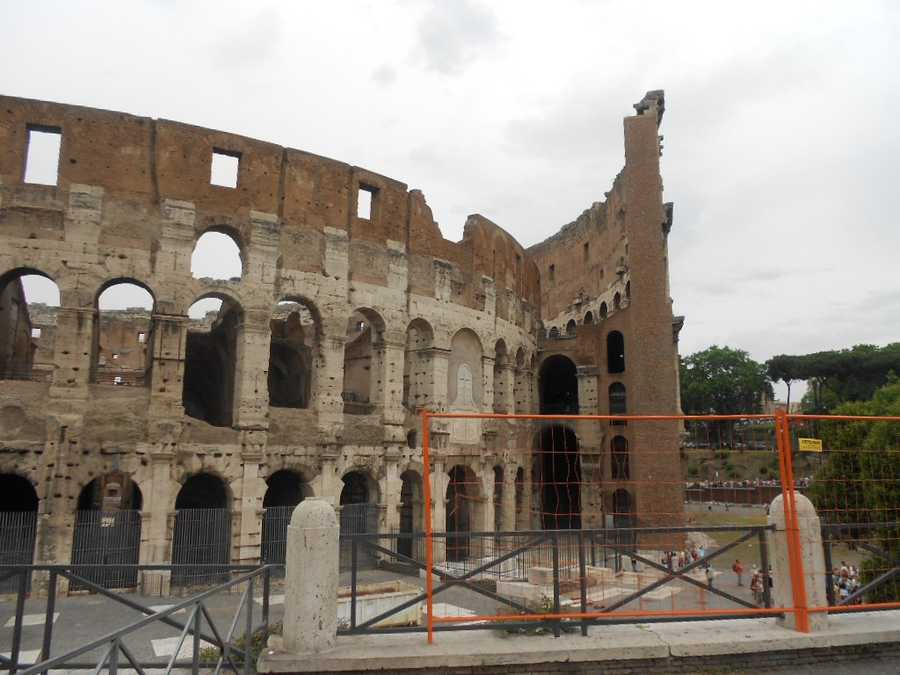 The Colosseum which wasoriginally the Flavian Amphitheatre (Italian-Anfiteatro Flavio or Colosseo) is the most impressive structure in Rome. If you are having a wedding and/or honeymoon in Rome then you can't leave out this site for photo opportunities.