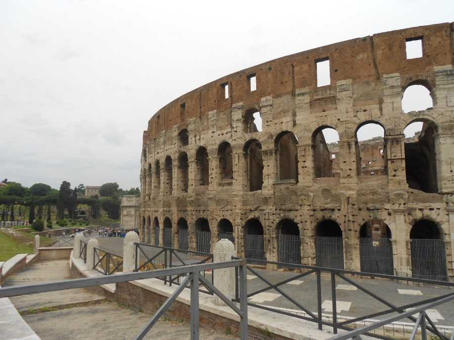 The Colosseum has great architecture, history and don't forget the gladiator games for all the men in the wedding party.