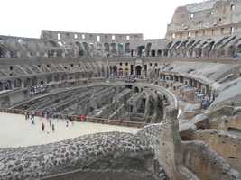 The inside of the Colosseum was capable of seating 50,000 spectators and was used for gladiators in battle, public spectacles such as mock sea battles, animal hunts, executions, re-enactments of famous battles, and dramas based on Classical mythology.