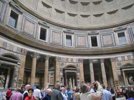 Enjoy the great architecture as well as the history inside buildings like the Pantheon in Rome, Italy.