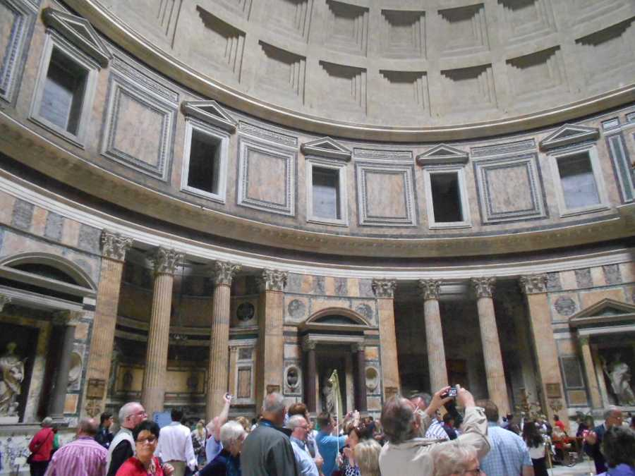 Enjoy the great architecture as well as the history inside buildings like the Pantheonin Rome, Italy.