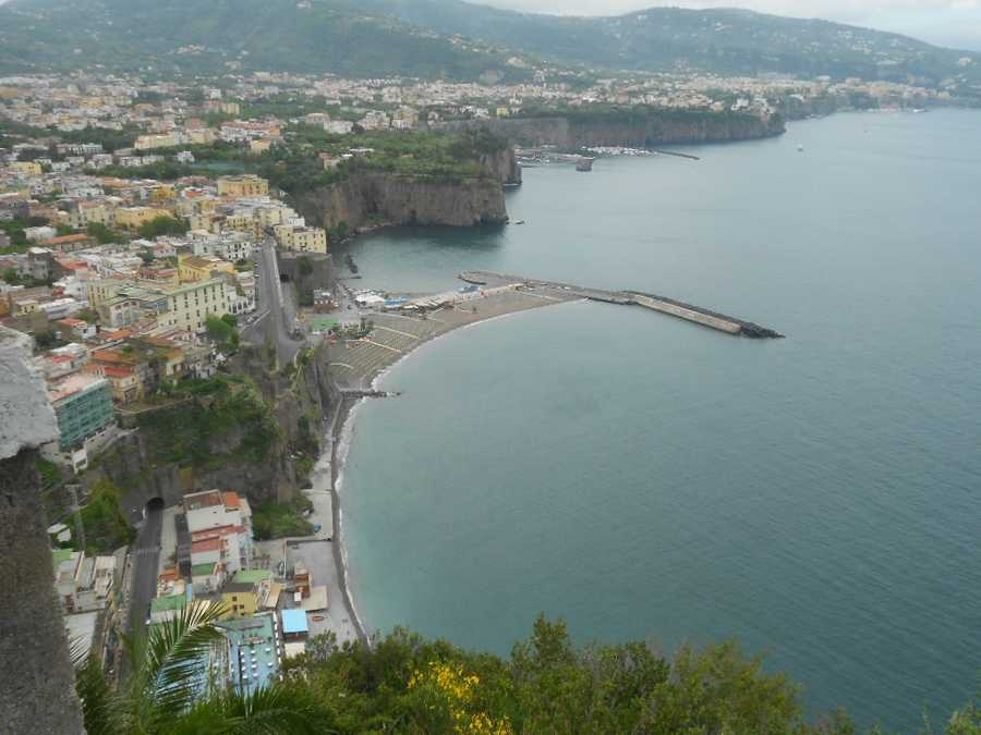 Views of Sorrento off the Amalfi coastline are breathtaking. The mountain shots make great photos for your honeymoon memories or wedding pics too.