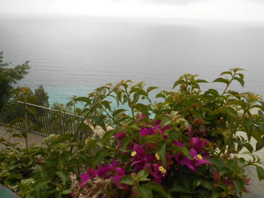 Flowers and the Amalfi Coastline, what could be more beautiful in your wedding photos, except you as a new couple in Positano, Italy.