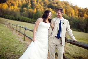 The beautiful fall leaves will be in the background of your ceremony and several wedding photos can be taken for your fall themed wedding.