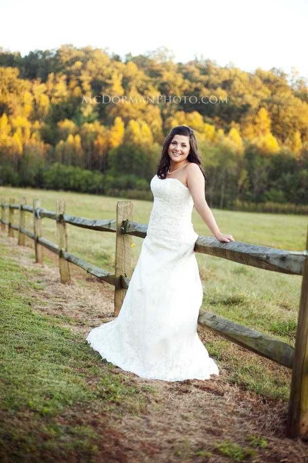 Several beautiful fall colors in the background of your wedding memories. Just check peak season in the area for those great shots. (McDorman Photo.com)