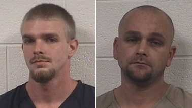 Justin Adkins, left, and Kenneth Middleton, right (Rockingham County Sheriff's Office)