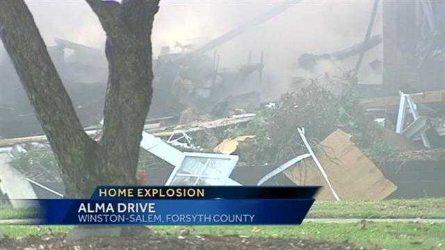 A person was hurt Saturday after a home exploded in Winston-Salem due to a propane gas leak.