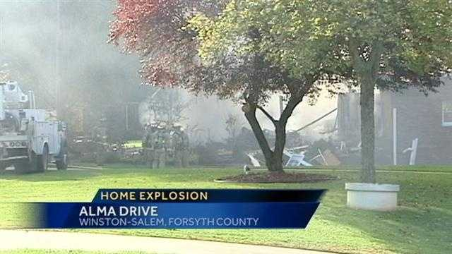 A leaking propane tank caused a house to explode Saturday morning.