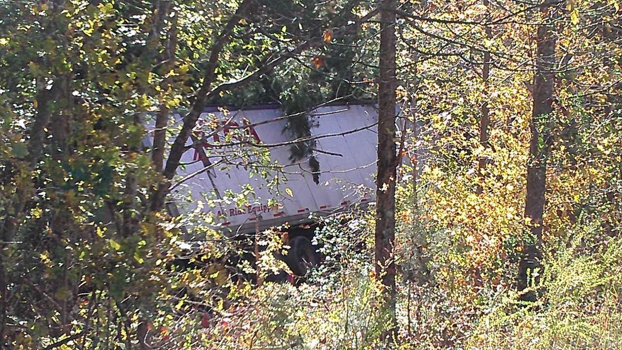 Tractor-trailer crash on I-85