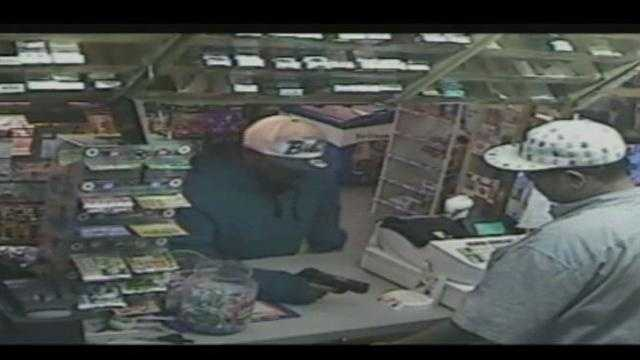 Police are looking for a man suspected of robbing a store Tuesday night in Thomasville.
