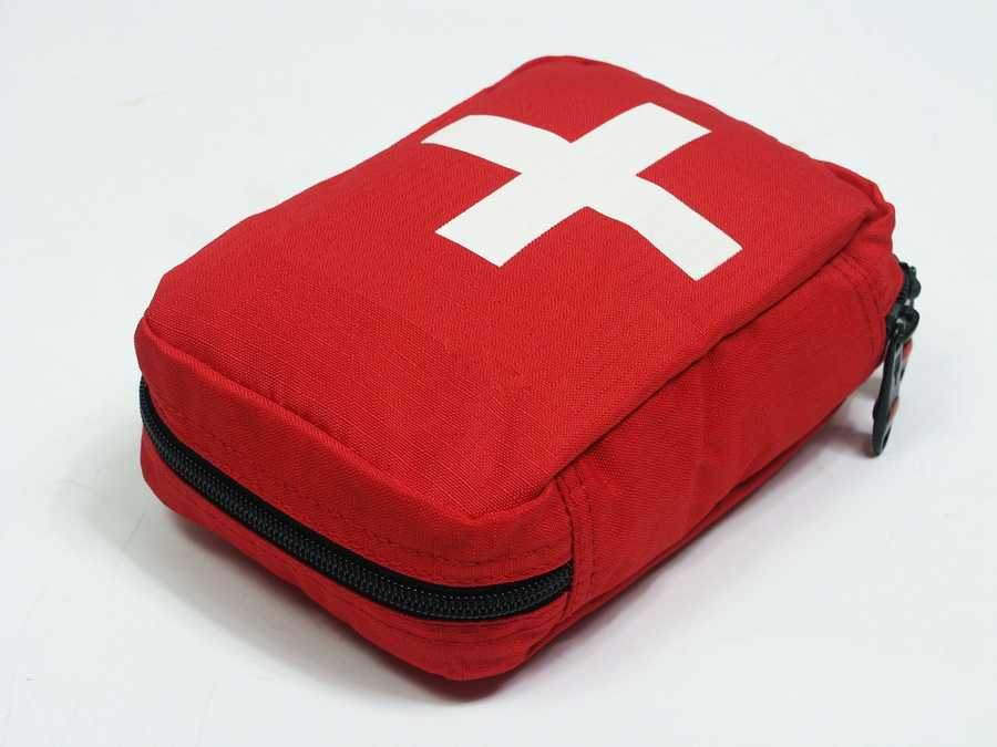 First aid kit:  If you already have one, double check the contents and update expired items.
