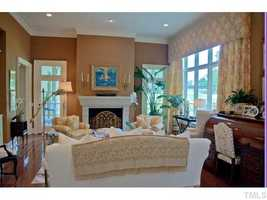 Living Room with views of the Hope Valley golf course