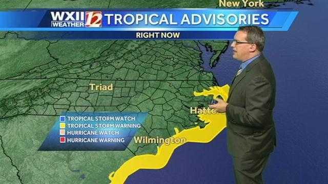 Tropical advisories along the coast