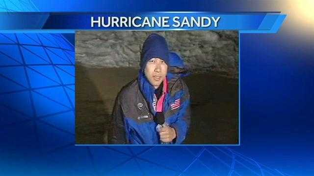 WXII's Rob Wu in Kill Devil Hills on Sunday morning.