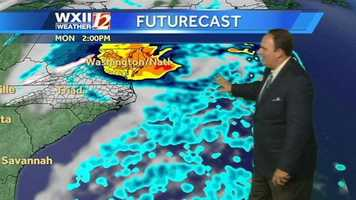 Click through these images for a look at WXII futurecast slides at various times.