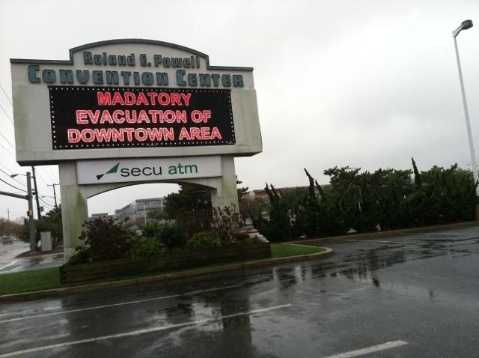 Ocean City calls for a mandatory evacuation of the downtown area.