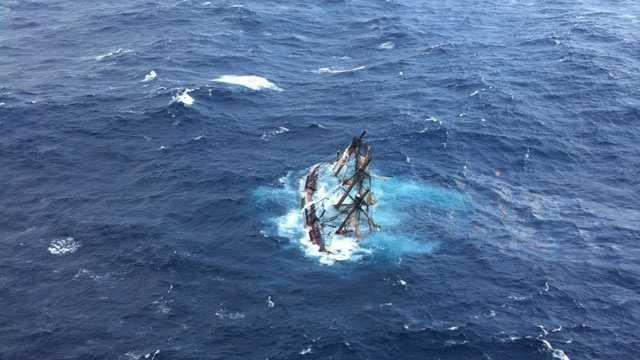 HMS Bounty sinks 2