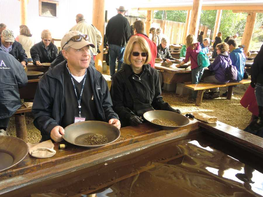 Gold Dredge 8 gave the tour group a lucky pan full.