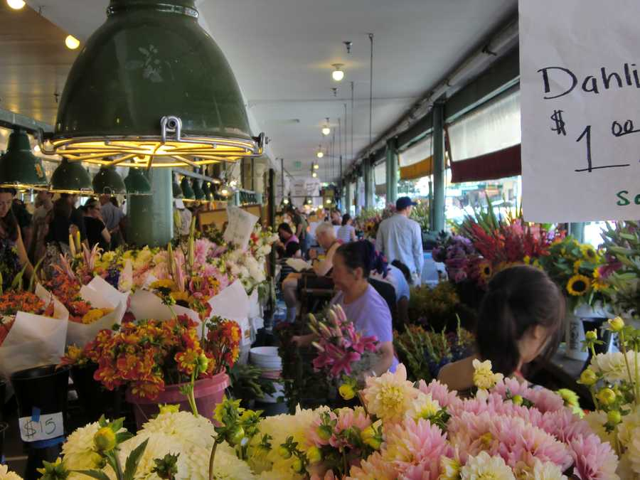 Pike Place Market in Seattle, Washington was buzzing with tourists and locals alike.