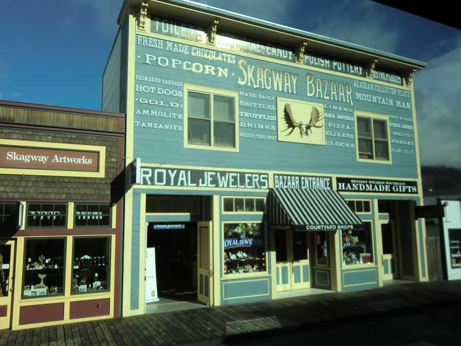 The Skagway Bazaar had lots for the group to eat, drink and buy in Alaska.