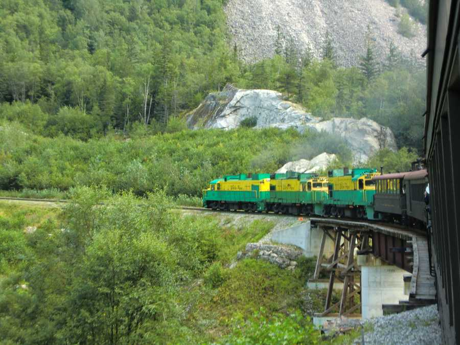 The White Pass Train starts off in Skagway, Alaska and goes on the Yukon route.