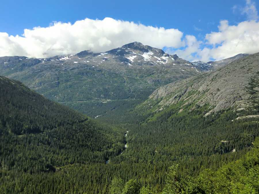 Starting way down in Skagway to the tops of the White Pass in Alaska leaves the group breathless.