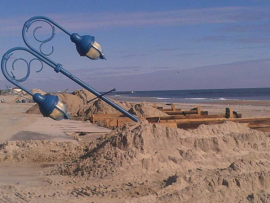 The next photos are also from Belmar, NJ, uploaded Friday morning.