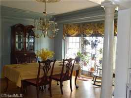 Formal Dining Room with raised paneled walls