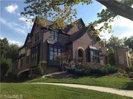 This custom built Tudor Revival is located in Winston-Salem and is priced at $1,500,000.