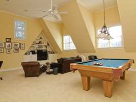 Family Room with billiard area