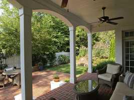 Patio view of backyard