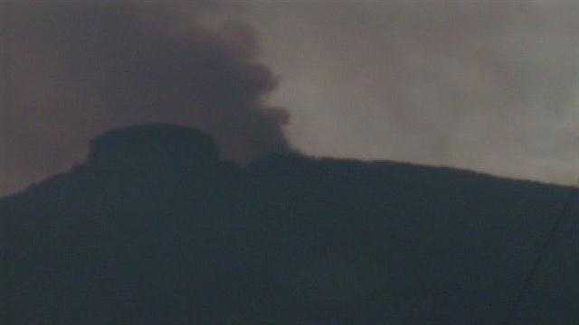 Check out these aerial images of the fire on Pilot Mountain that happened last November.
