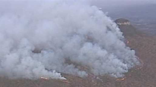 Flames were visible from the air Friday evening. (Chopper 12)