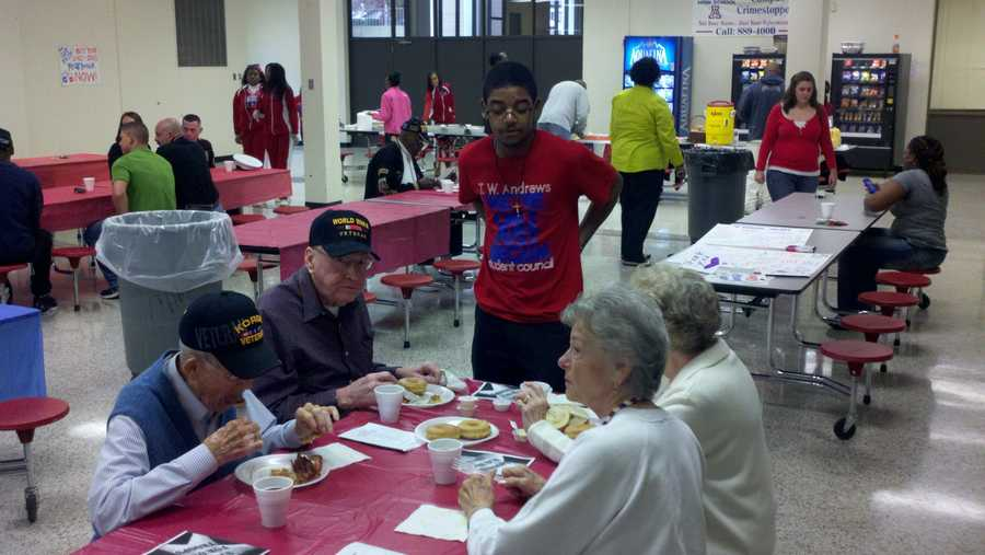 A Veterans Day breakfast was held Monday at High Point Andrews. WXII's Rich Cisney uploaded these photos.