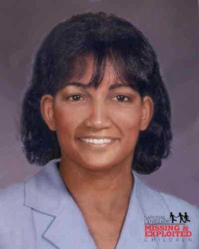 Sherri's photo is shown age-progressed to 46 years.