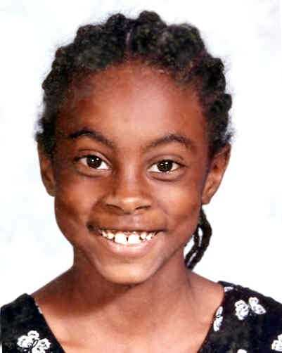 Asha Jaquilla Degree was last seen by her family sleeping in her bed at approximately 2:30 a.m. on February 14, 2000 in Shelby, NC. At 4:00 a.m., she was seen by motorists walking along North Carolina Highway 18 in Shelby, North Carolina. She was 10 years old. She is believed to be wearing a white shirt, white jeans, white tennis shoes and may be carrying her purse and a black backpack.