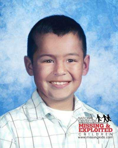 Edwin's photo is shown age-progressed to 8 years. He may be in the company of an adult female relative. They are believed to be in Mexico.