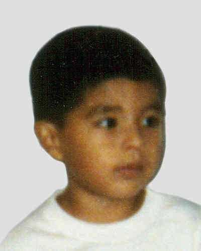Benjamin Sanchez was last seen on December 3, 1999 in Concord, NC. He was 3 years old. He was allegedly abducted by his mother, Natividad Meza Balanzar, and his mother's boyfriend, Alvaro Paredes. Felony warrants were issued for the abductors on December 6, 1999. They may have traveled to Mexico driving a 1990 red Pontiac Grand Prix with North Carolina license plates MNF3383. Benjamin has a scar on his eyebrow. Natividad Meza Balanzar may be known by the alias name Natalia Valeriano or Estela Gonzalez.