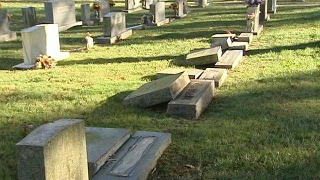 Tombstones turned over in Winston-Salem