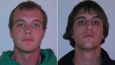 Wyatt Brown, left, and Travis Edgerton, right (Boone police)