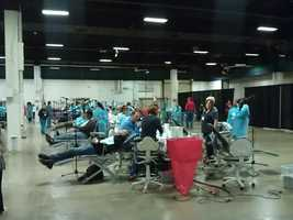 Slocum reported that dentists were needed to volunteer their time the rest of Friday and on Saturday at the event.