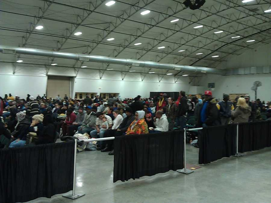 A free dental clinic for low-income patients was held Friday at the Greensboro Coliseum. WXII's Brian Slocum took these photos.