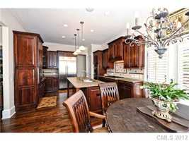 Gourmet Kitchen with hardwood floors