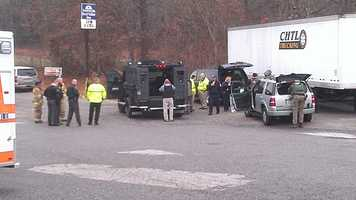 An armored vehicle was brought in during the standoff. (William Bottomley/WXII)