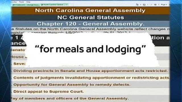 NC Lawmakers collecting $104 dollar a day per diem even when they are absent&#x3B; WXII's Bill O'Neil reports on who and how much each lawmaker has collected at the NC taxpayers expense.