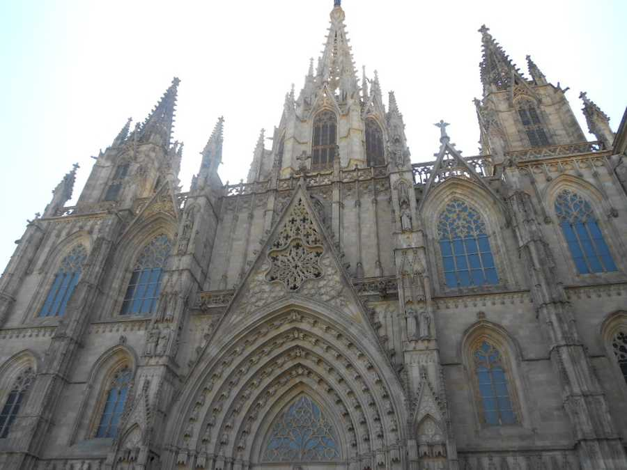 When going to a foreign country it is best to get a wedding planner because they know all the laws and rules for weddings. (The Cathedral of Santa Eulalia is both Gothic and Victorian style).