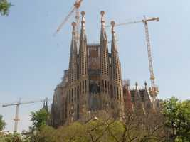 Church of La Sagrada Familia Nativity Facade is so beautiful and even if you can't get married there it is a great place to tour.