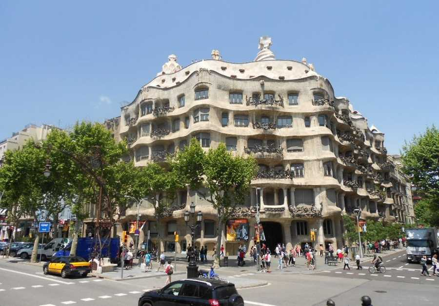 So many interesting places for the wedding guests and party to visit. If this is only your honeymoon then you will want to spend time at the La Pedrera finished in 1912 by Antoni Gaudi.