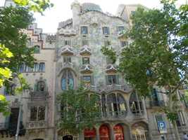 Casa Batllo or Casa dels ossos (Named House of the Bones by locals) because of the skeletal look. Another Antonio Gaudi building in 1877. Every place is beautiful with Gaudi's architectual designs and maybe one of these buildings will allow receptions.